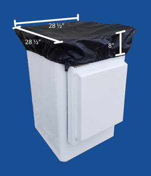 "Bucket Cover for Door Buckets - 24"" X 24"" - Heavy Duty Vinyl - Plastic Composites Co"