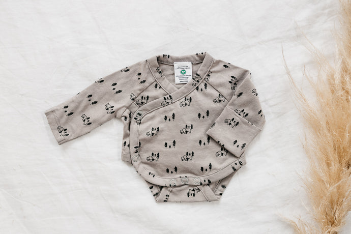 Organic cotton bodysuit - Bear Hunt