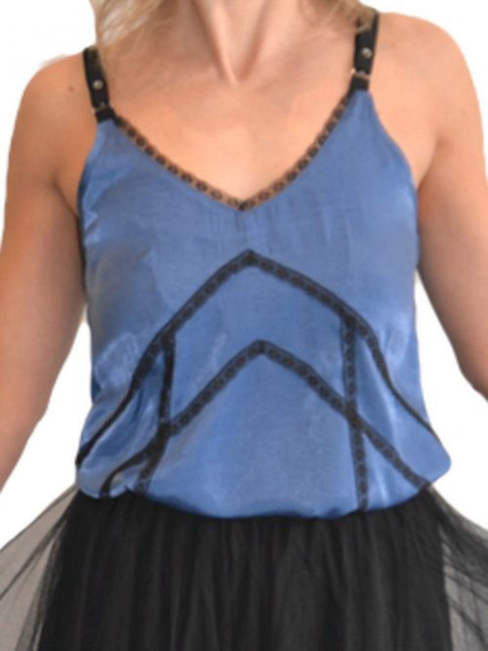 INZAGI Donatella Camisole Top - Blue