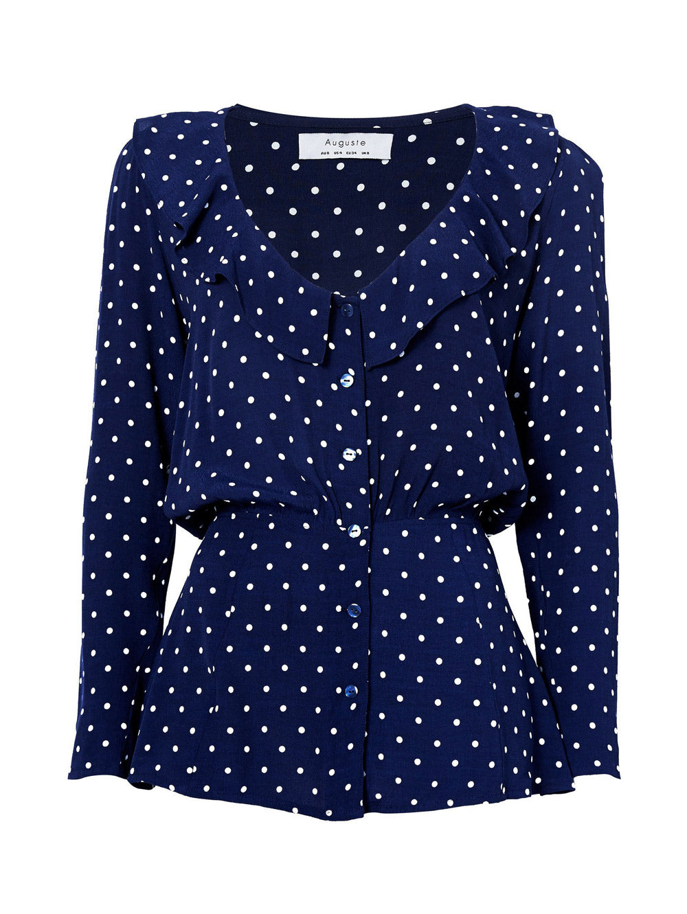 AUGUSTE Lilly Shirt Classic Polka Dot