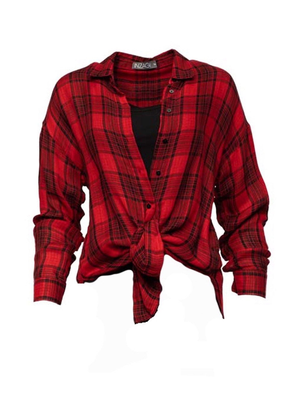 INZAGI Charlotte Check Shirt - Red
