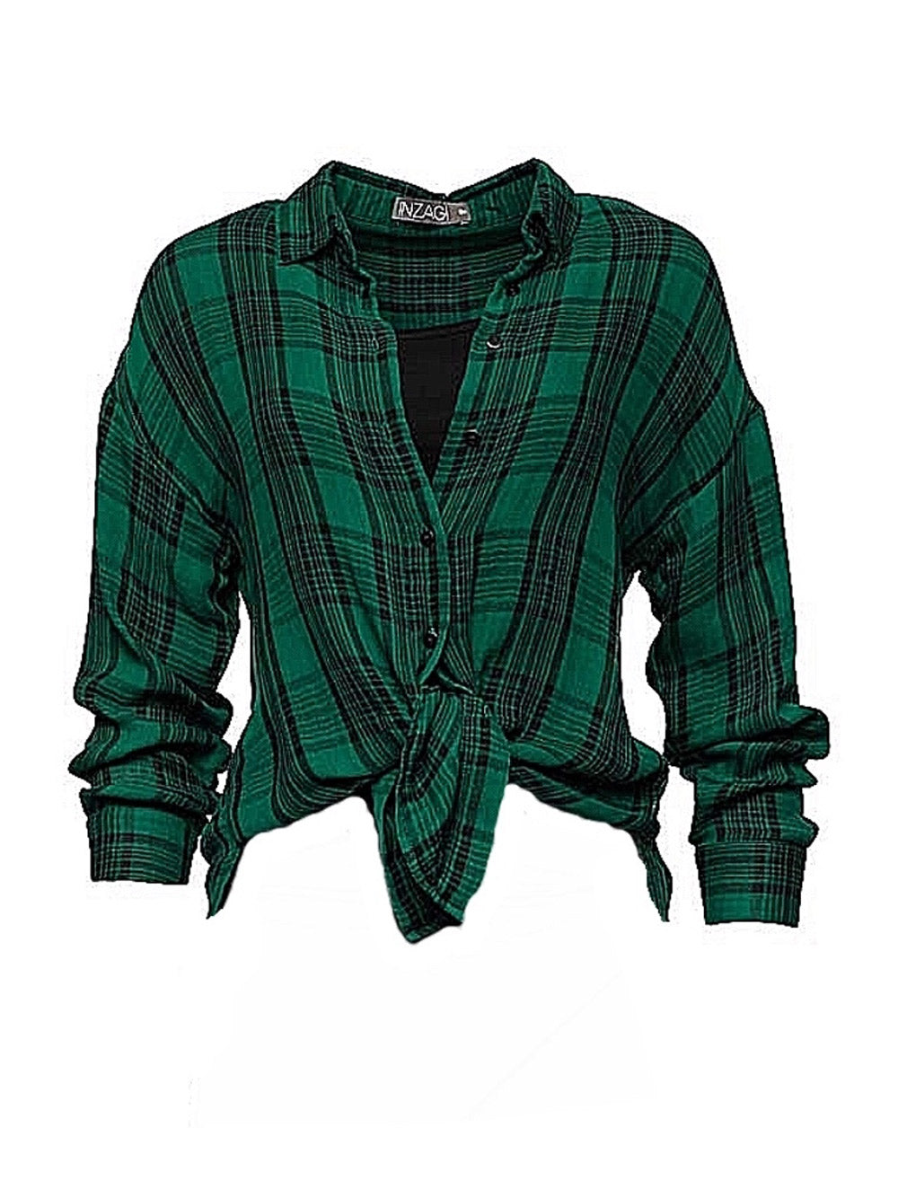 INZAGI Charlotte Check Shirt - Green