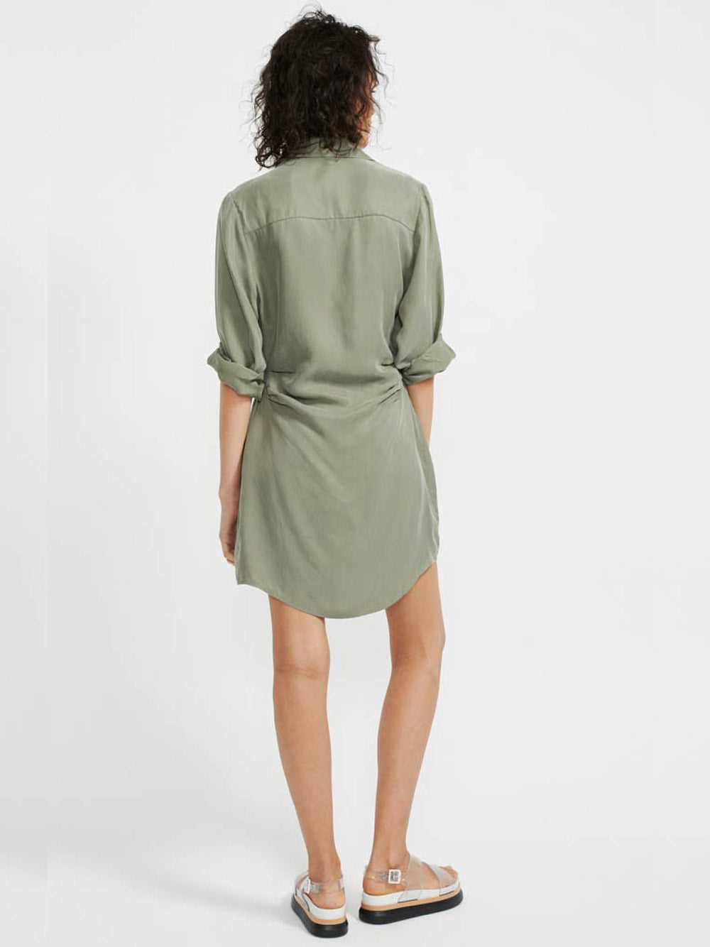 STAPLE THE LABEL Harper Mini Shirt Dress - Khaki