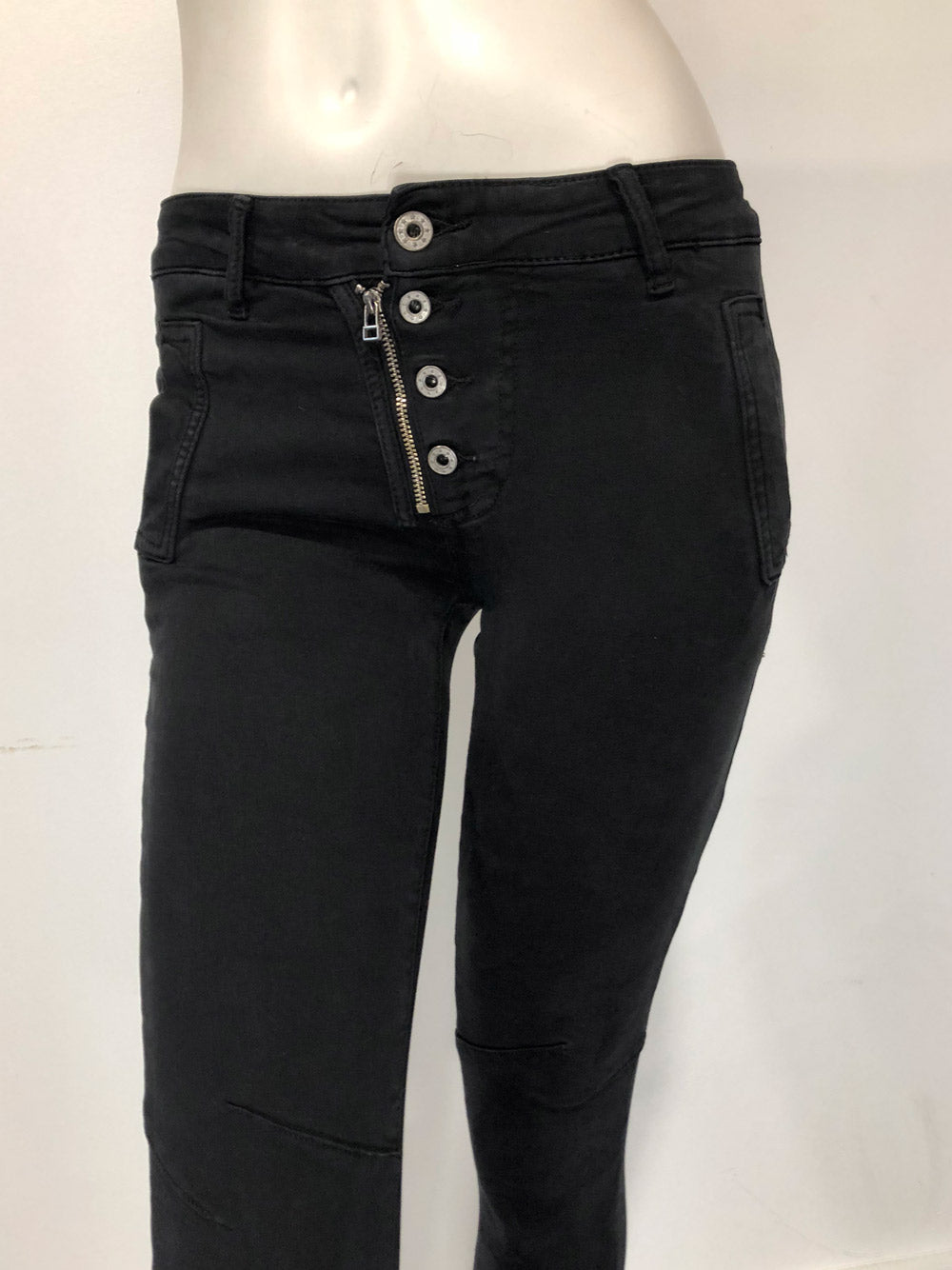 ITALIAN STAR Italian Button Jean - Black
