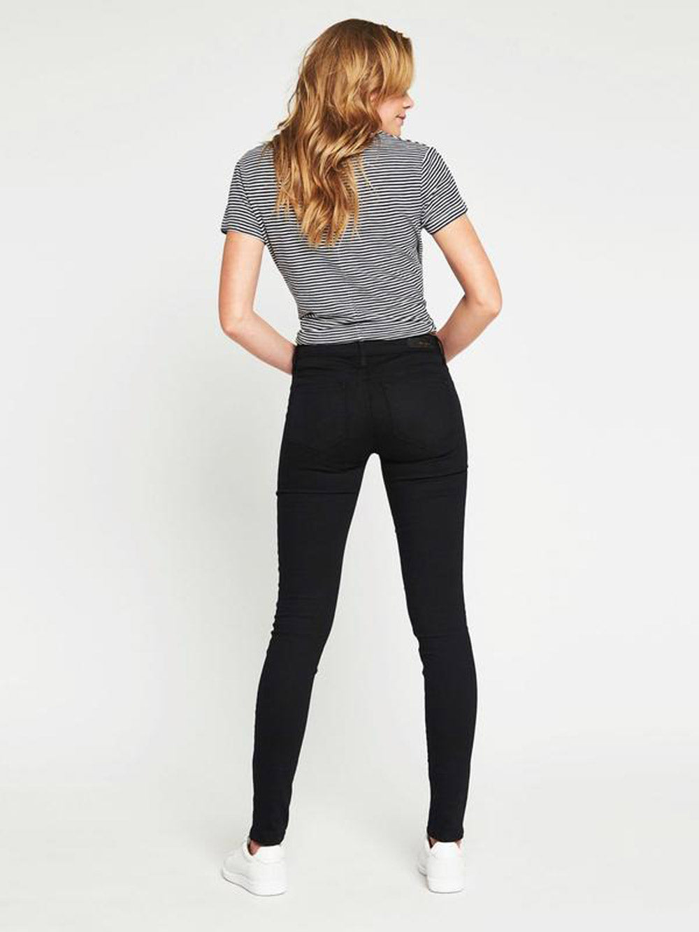 MAVI Alexa Mid Rise Skinny - Double Black Gold Reform