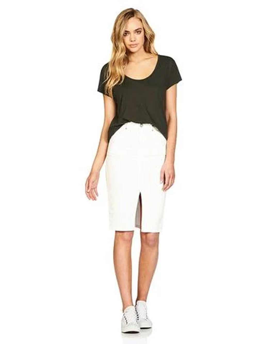 MAVI Sienna Denim Skirt - White
