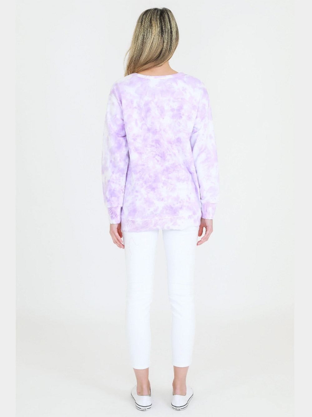 3RD STORY Ulverstone Tie Dye Sweater - LILAC