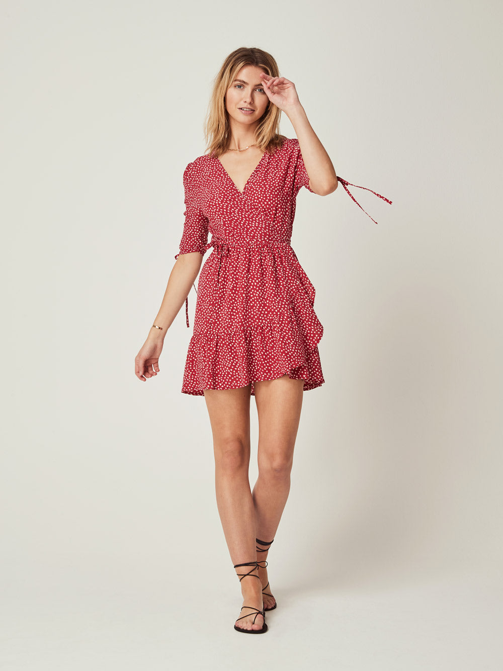 AUGUSTE River Della Mini Dress Red