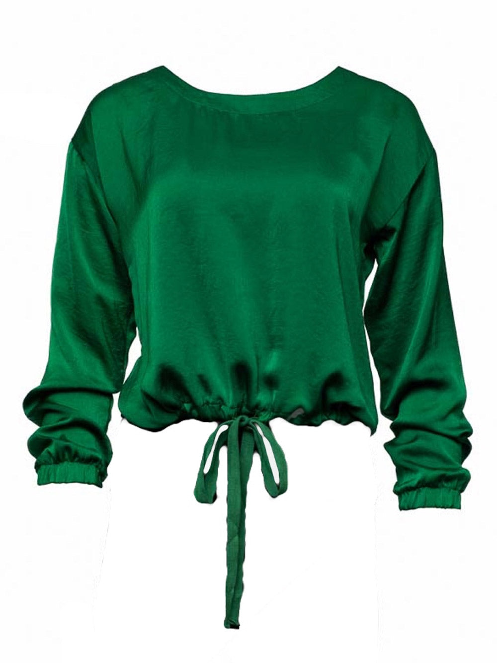 INZAGI Dina Drawstring Top - Green