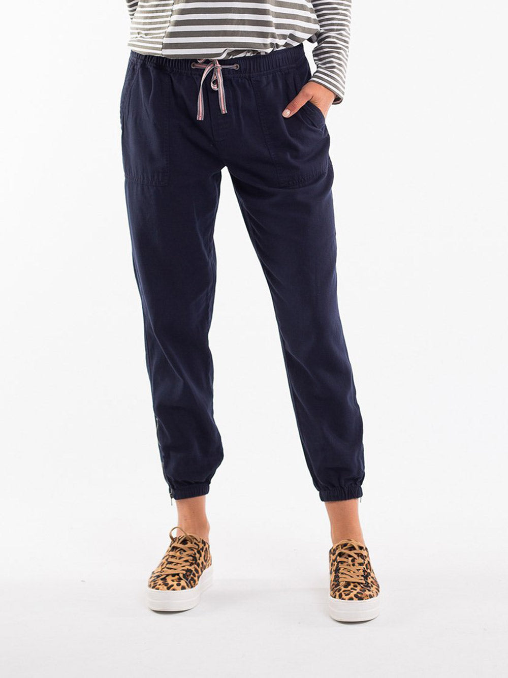 ELM LIFESTYLE Florence Pant - NAVY
