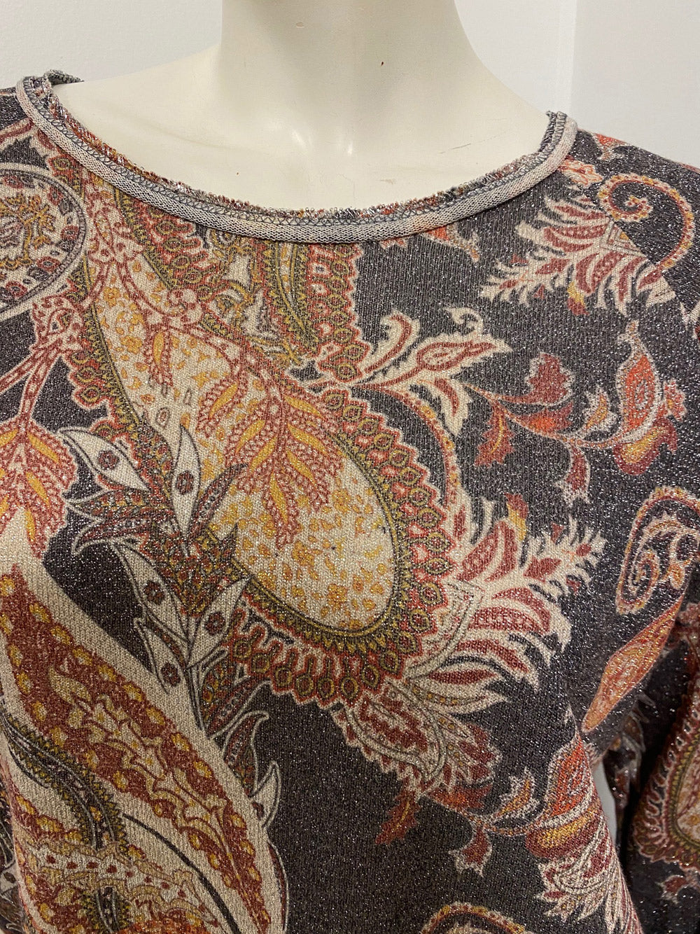 LOVE FROM ITALY Paisley Glitter Top