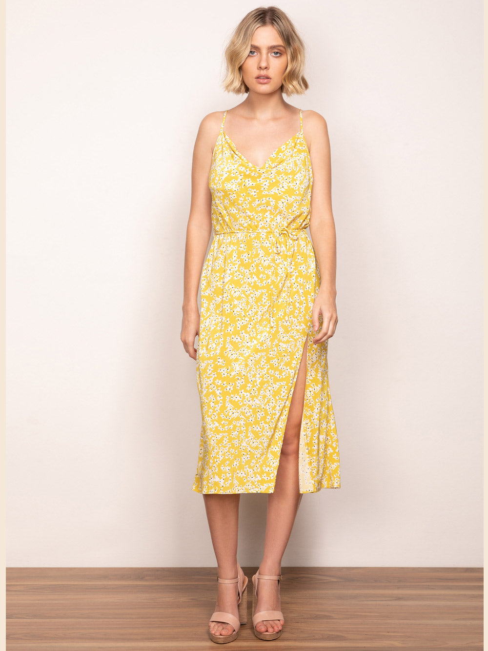 WISH Golden Bloom Slip Dress