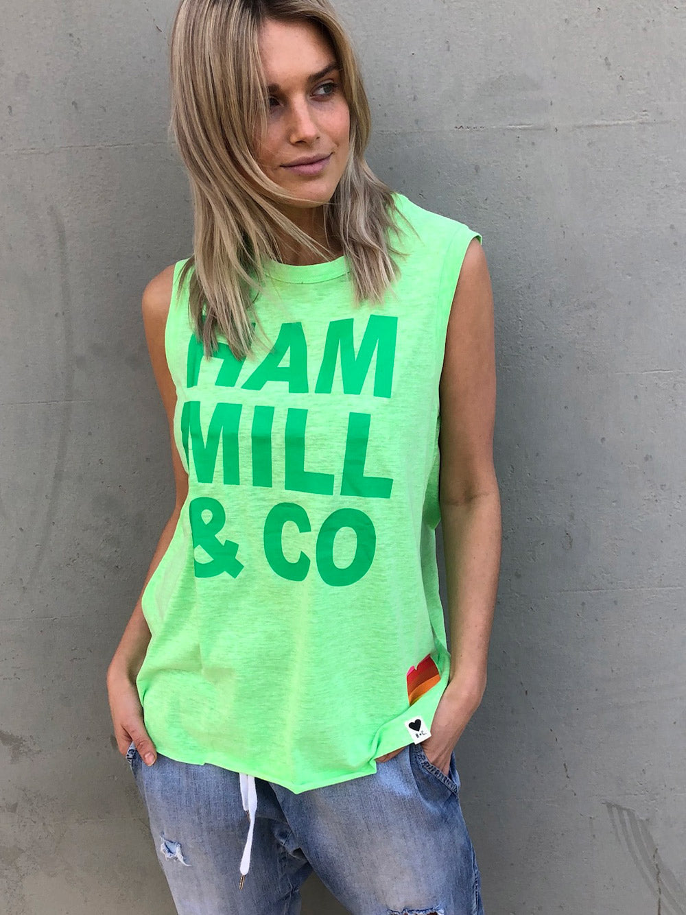 HAMMILL & CO Logo Tank - Green