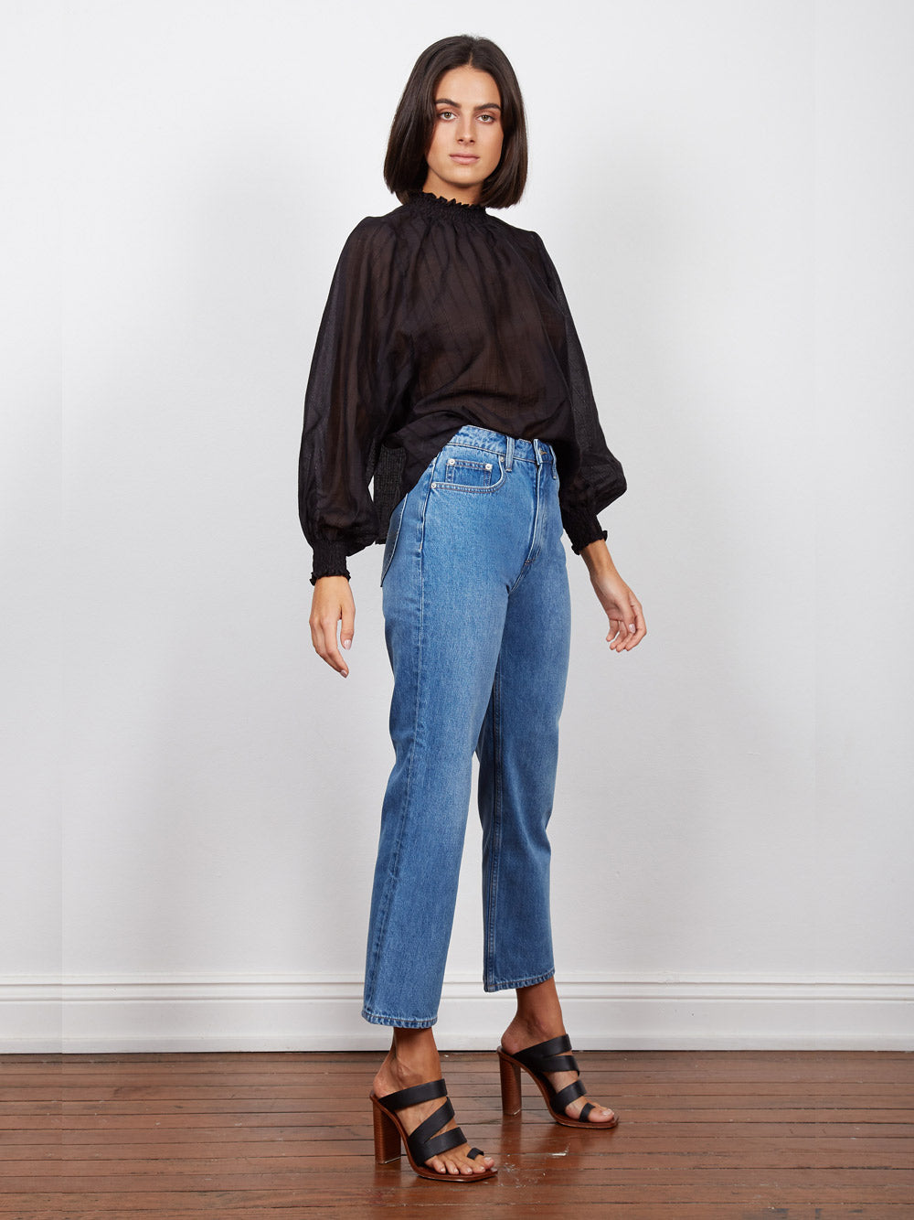WISH THE LABEL Intentions Shirred Blouse