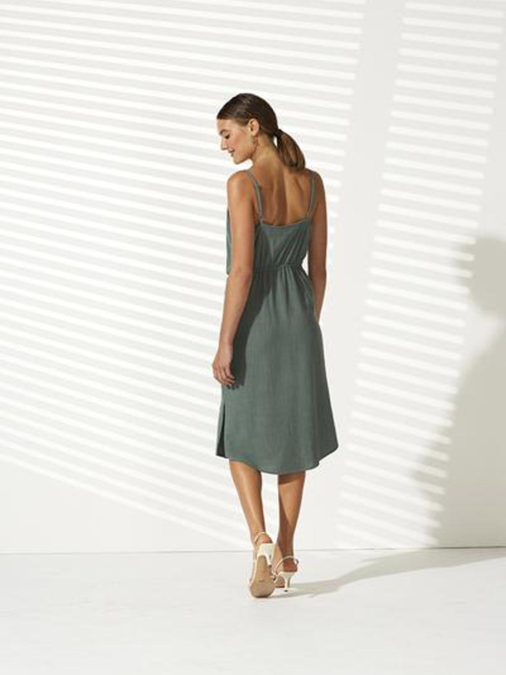 STAPLE THE LABEL Juniper Tie Front Dress