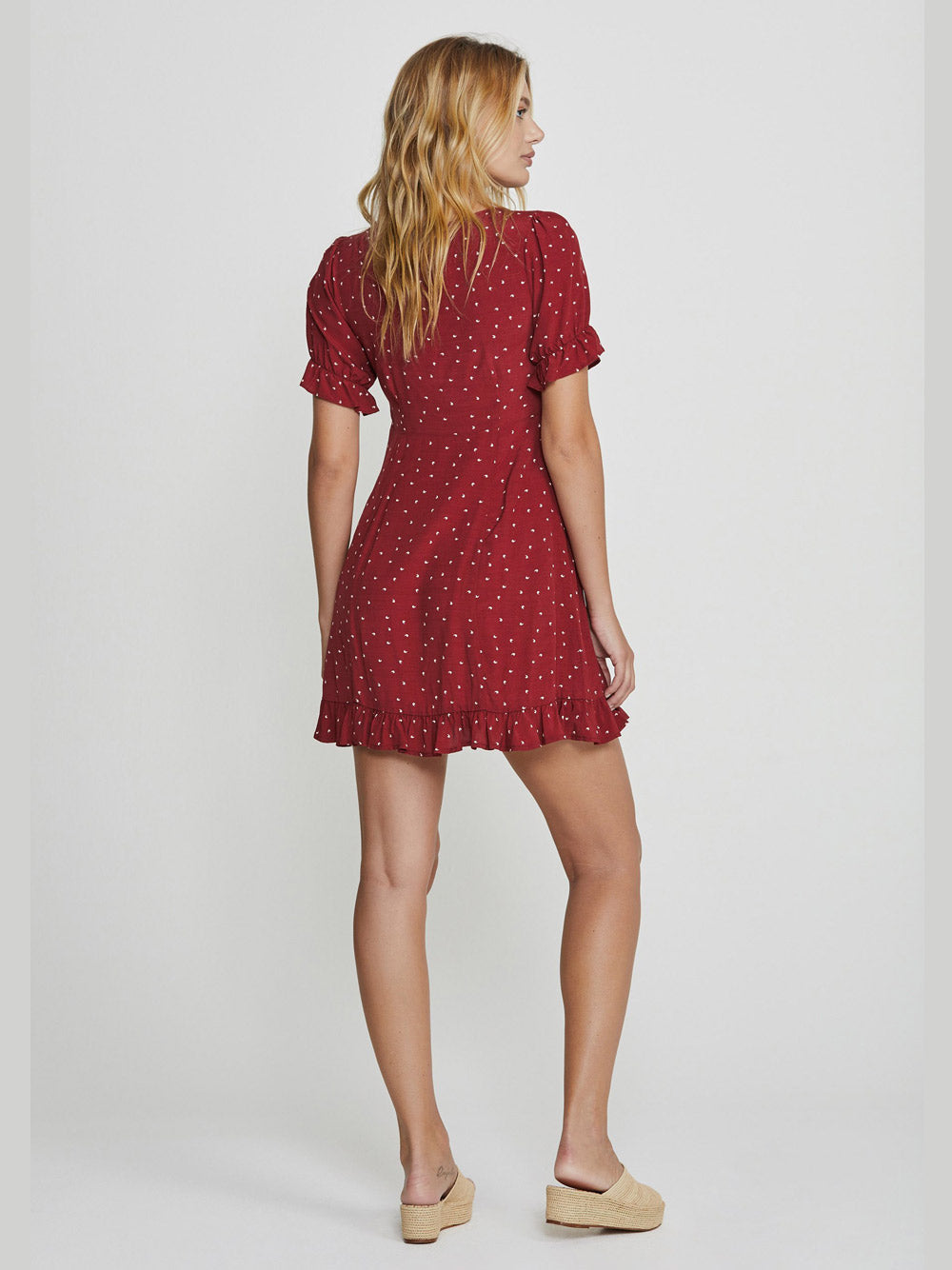 AUGUSTE Luna Dusk Mini Dress - Wine