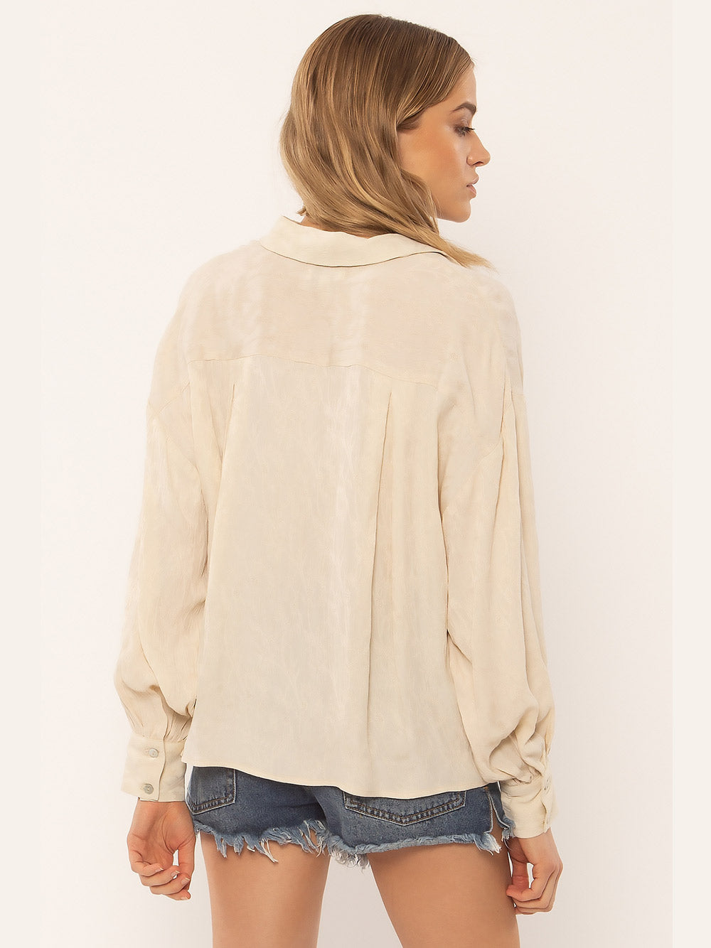 AMUSE SOCIETY Maya Bay Woven Blouse - CREAM