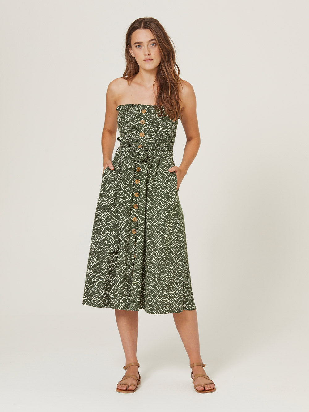 AUGUSTE Pearl Jasper Midi Dress