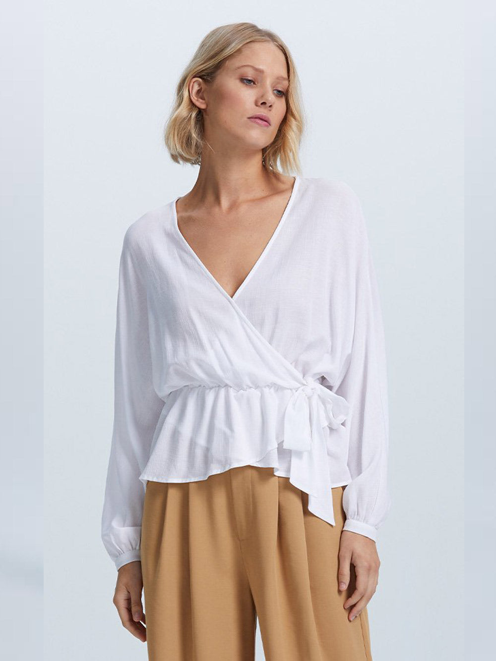STAPLE THE LABEL Purist Wrap Blouse