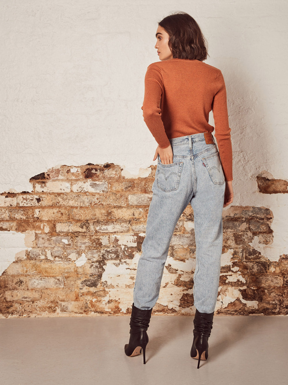 WISH THE LABEL Rails Sweater - RUST