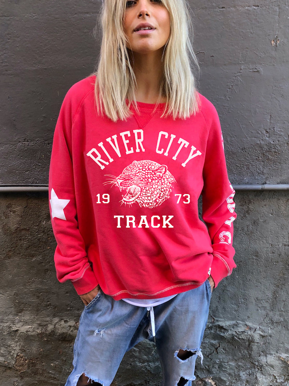 HAMMIL & CO River City Sweater - Red