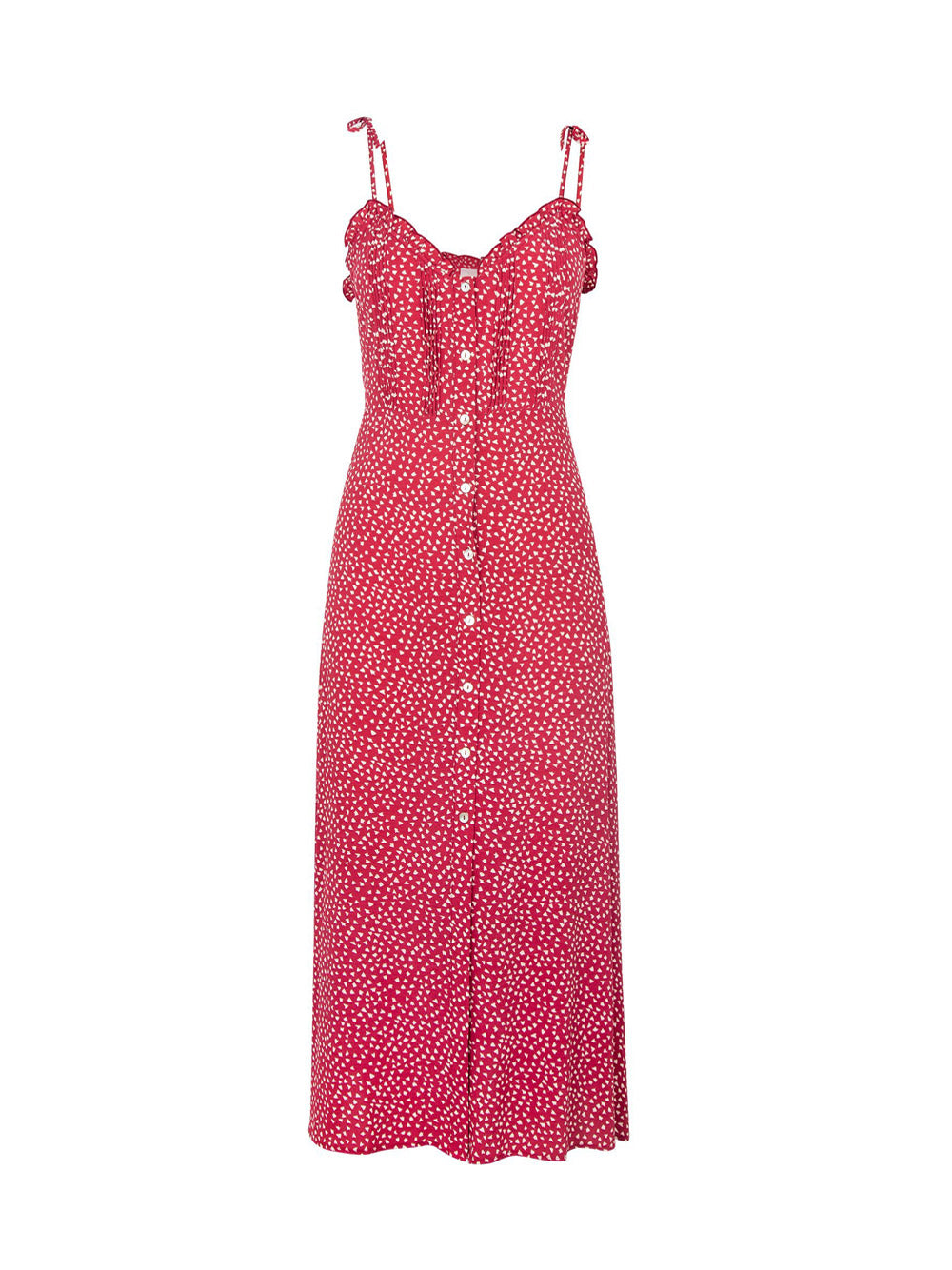 AUGUSTE THE LABEL River Della Midi Dress Red