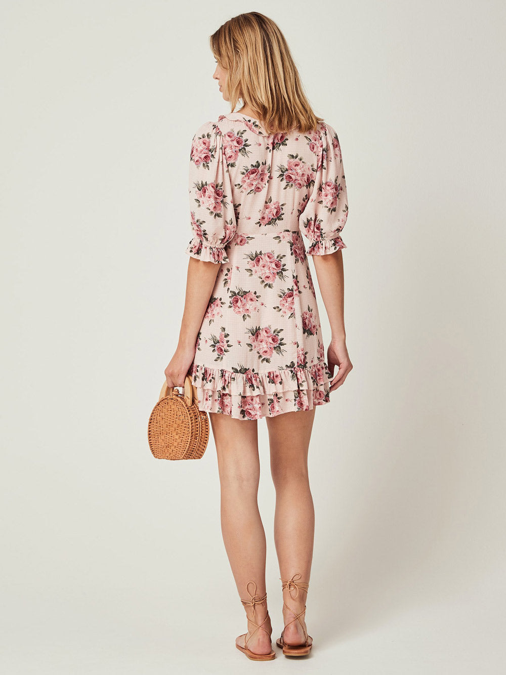 AUGUSTE THE LABEL Roselle Skylar Mini Dress Blush