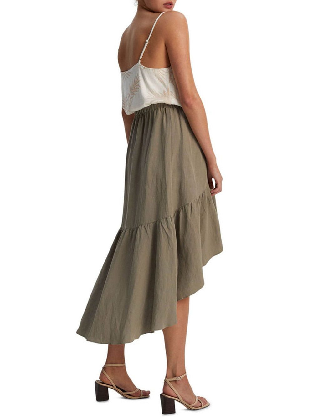 STAPLE THE LABEL Acacia Ruffled Midi Skirt
