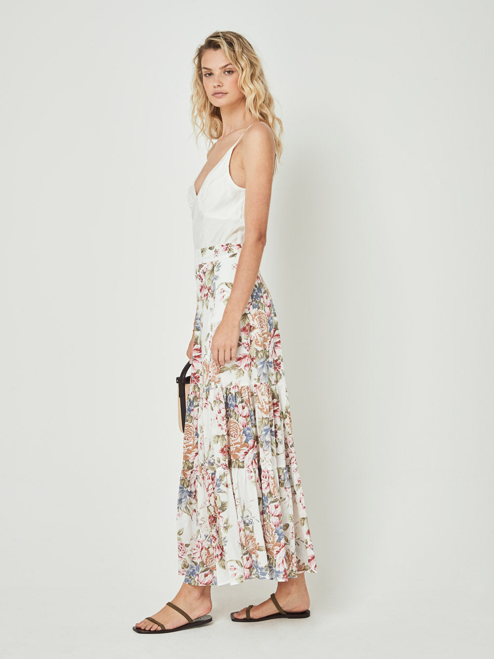 AUGUSTE THE LABEL Sadie Violet Maxi Skirt