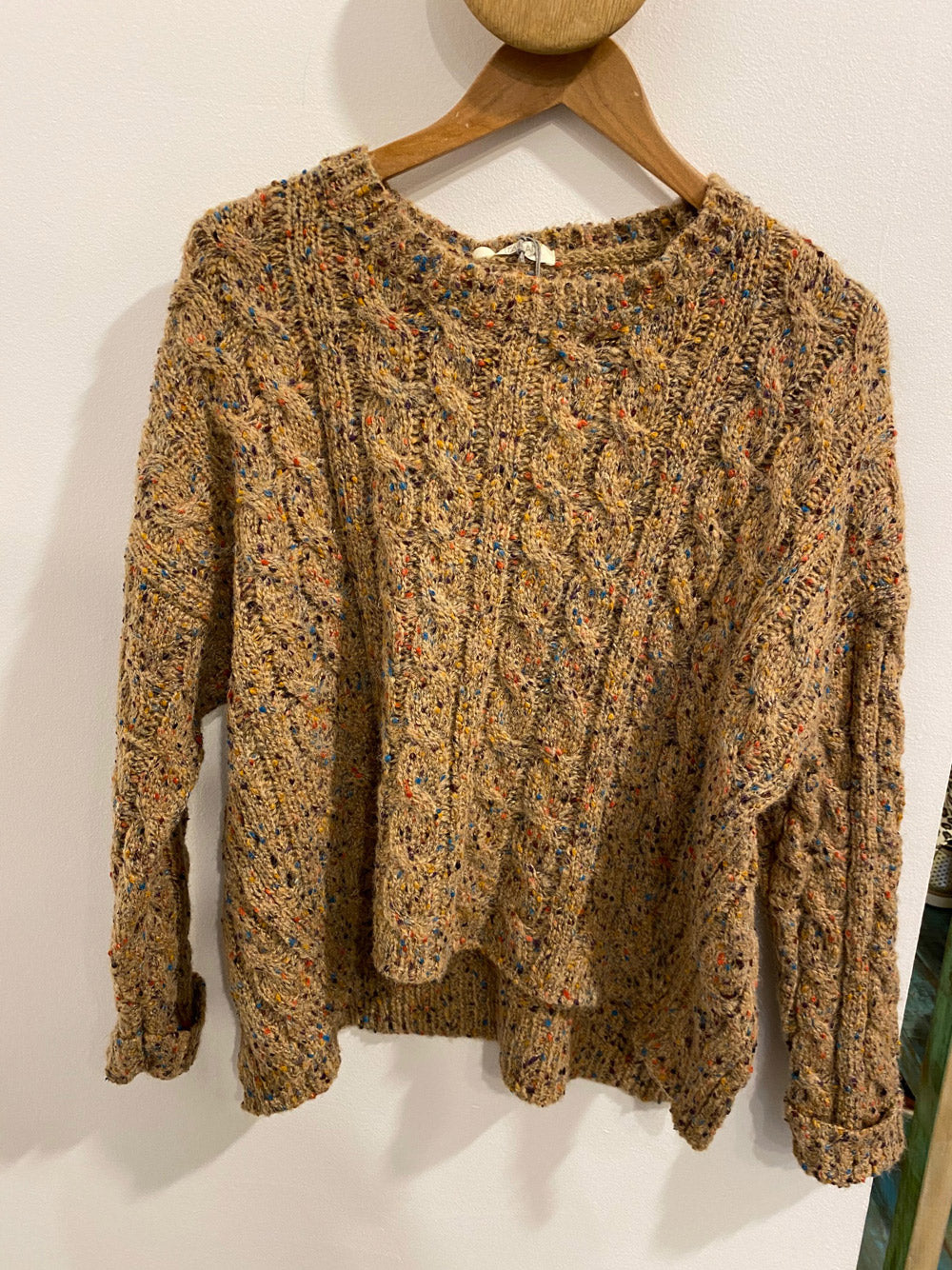 ITALIAN STAR Speckle Knit Camel