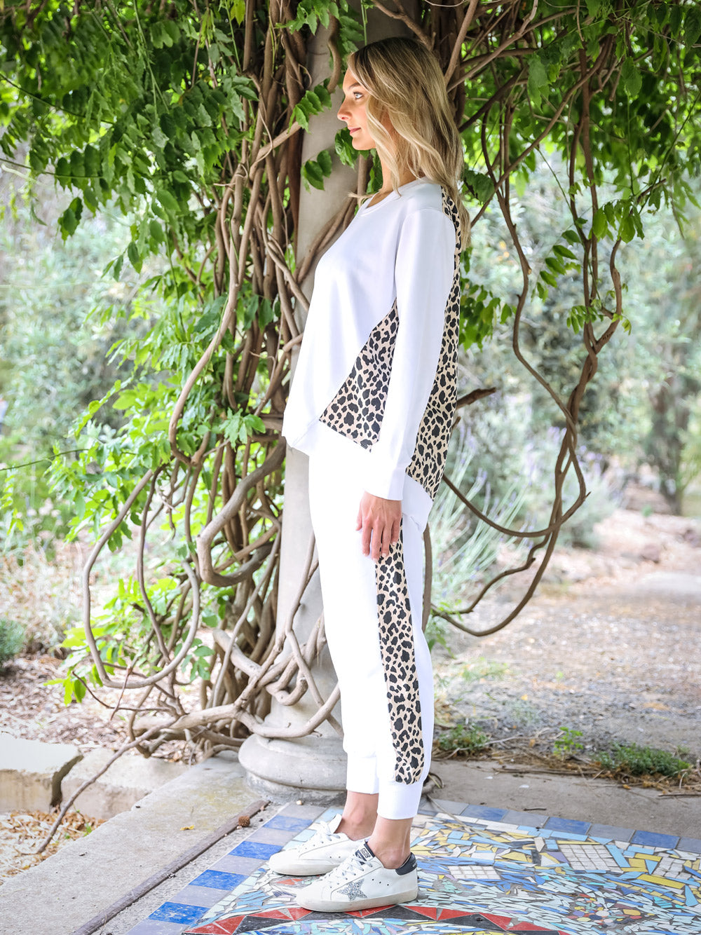 3RD STORY Leopard Splice Sweater
