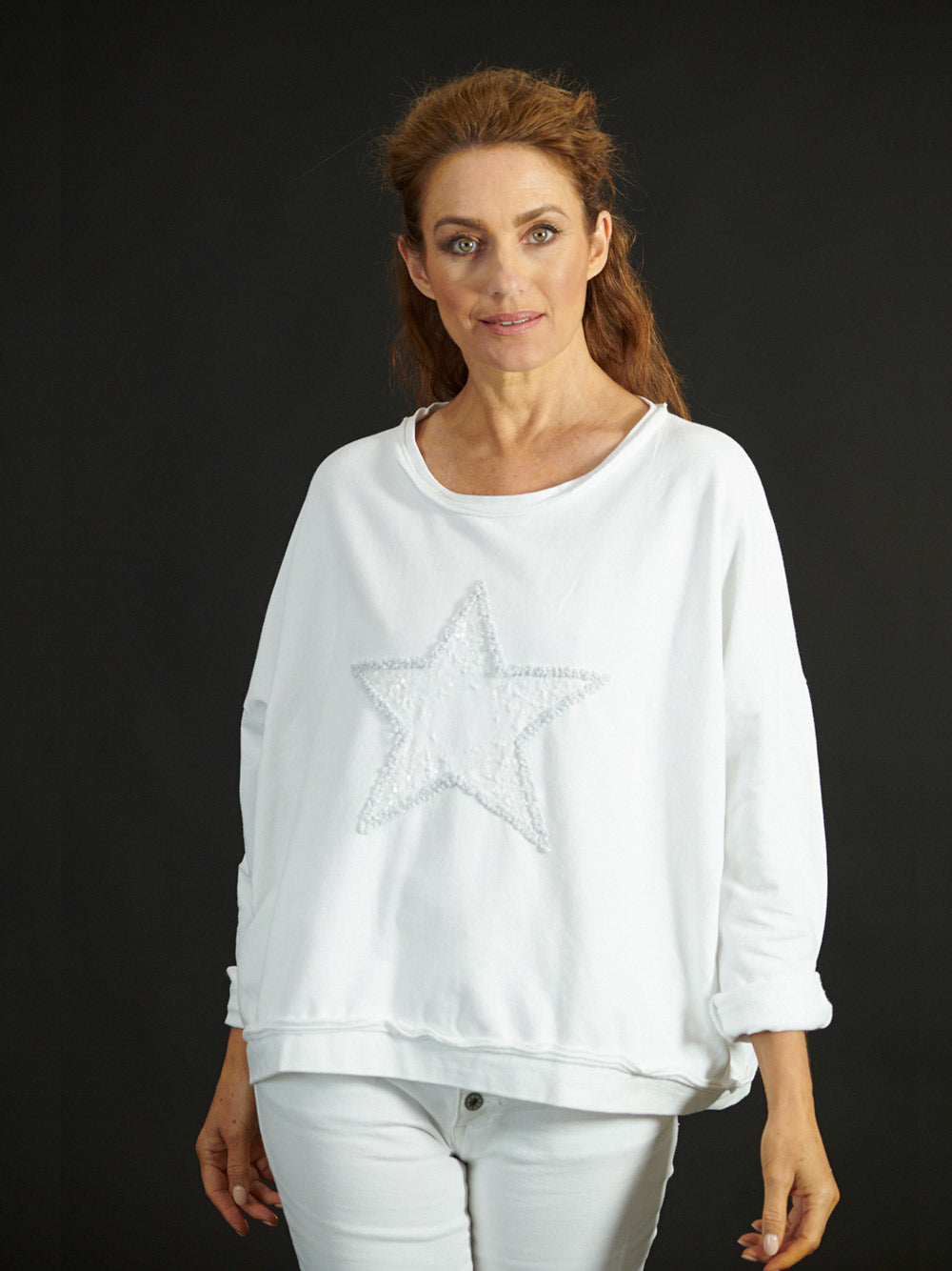 LOVE FROM ITALY Starburst Top - WHITE