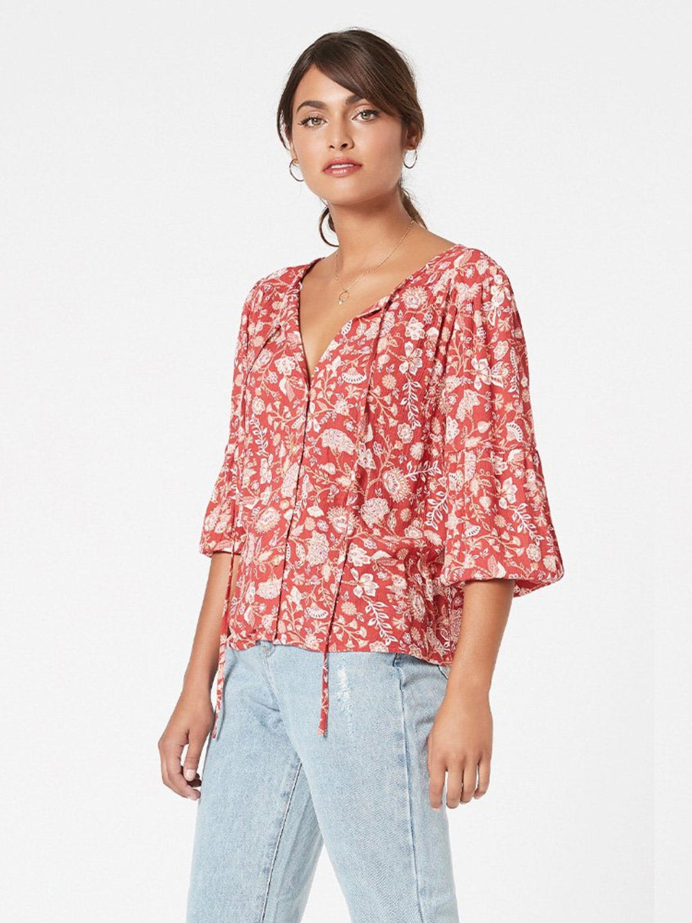 MINKPINK Sunray Chintz Blouse