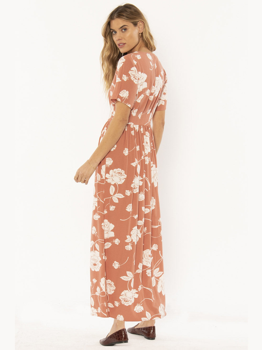 AMUSE SOCIETY Via Lido Dress - Terracotta