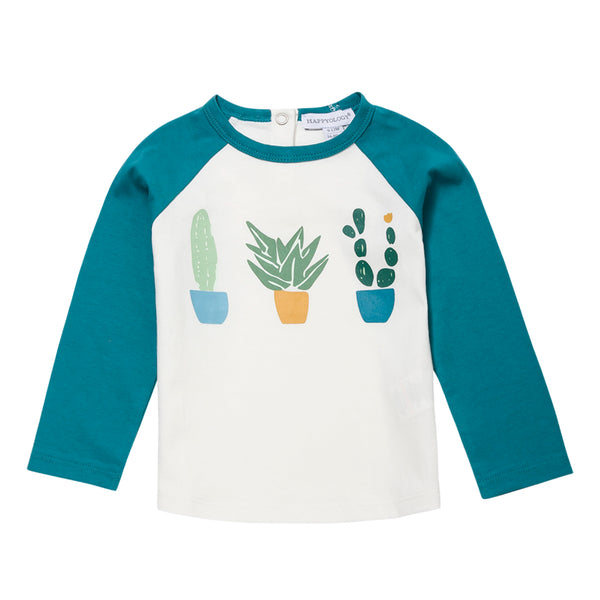Three Cacti Cotton Raglan