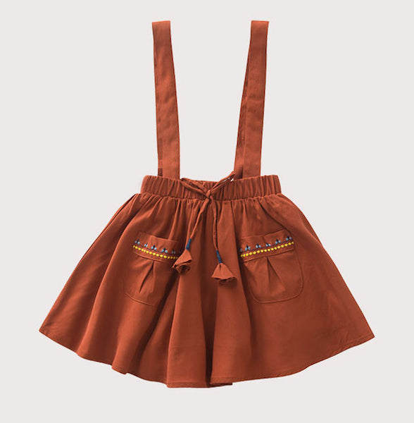 Apricot Overall Dress, Plum