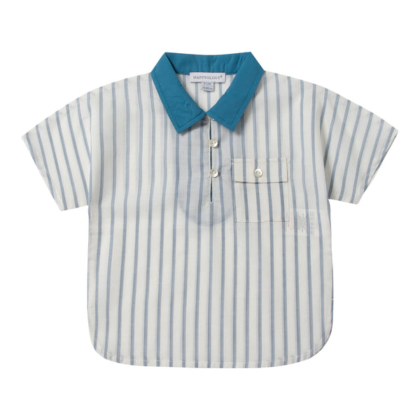 Baby's Blue Stripe Cotton Shirt