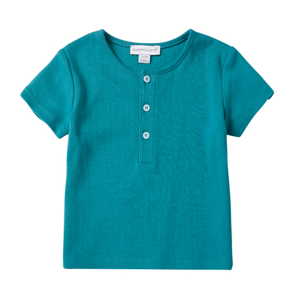 Turquoise Cotton T-Shirt