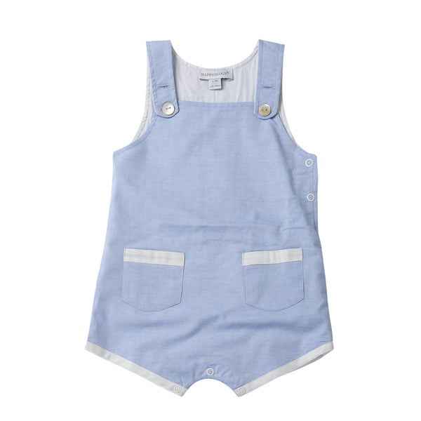 Blue Cotton Chambray Dungarees
