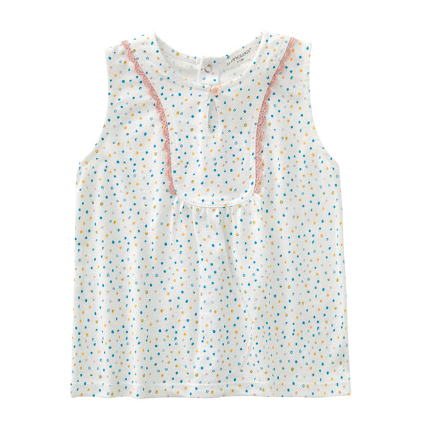 Dotty Cotton Sleeveless Top