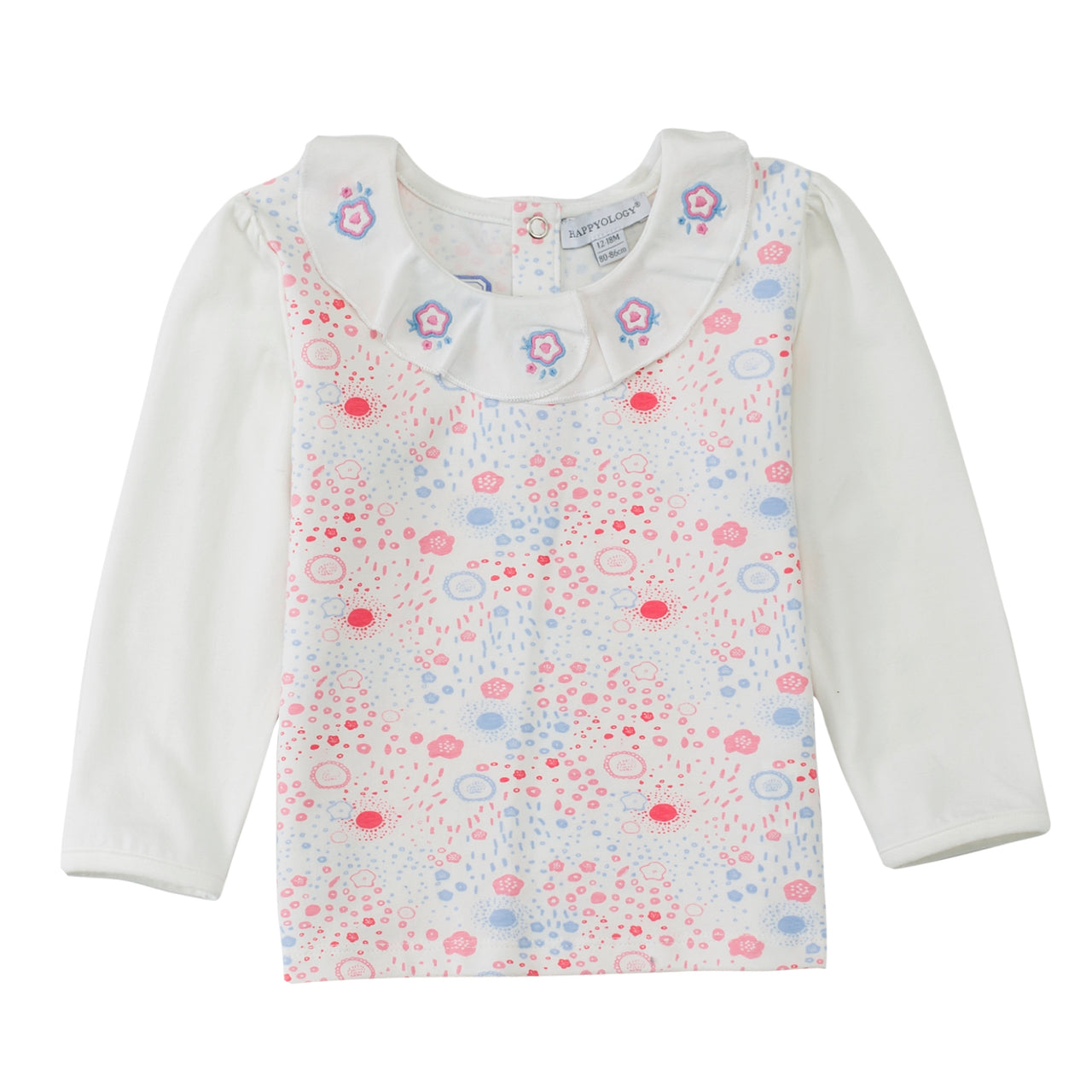 Embroidered Collar Cotton Top
