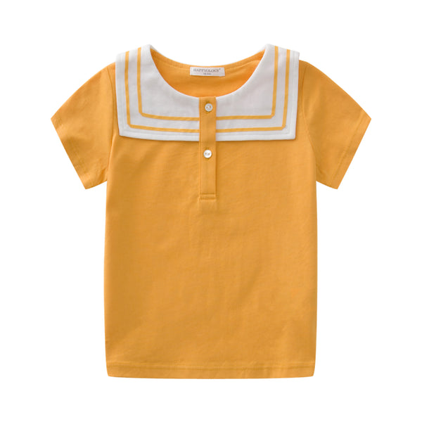 Yellow Sailor Cotton Tee