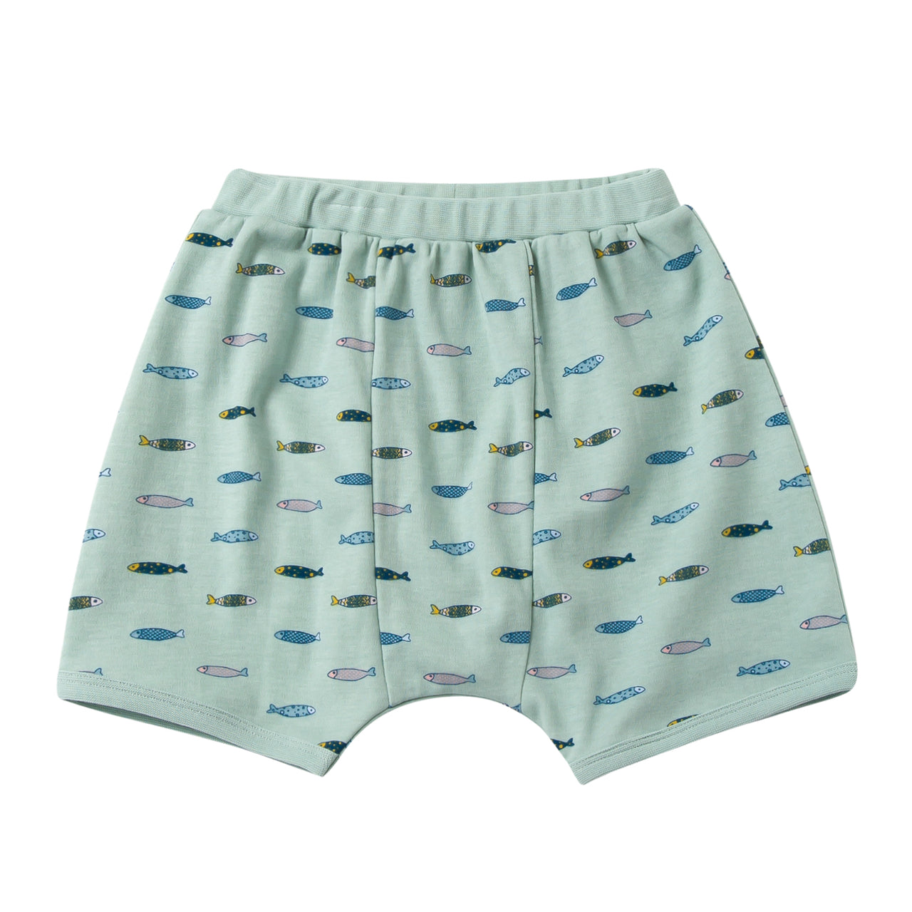 Swimming Fish Cotton Jersey Shorts