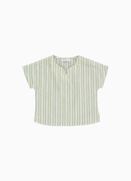 Bette Baby Top, Green Stripe