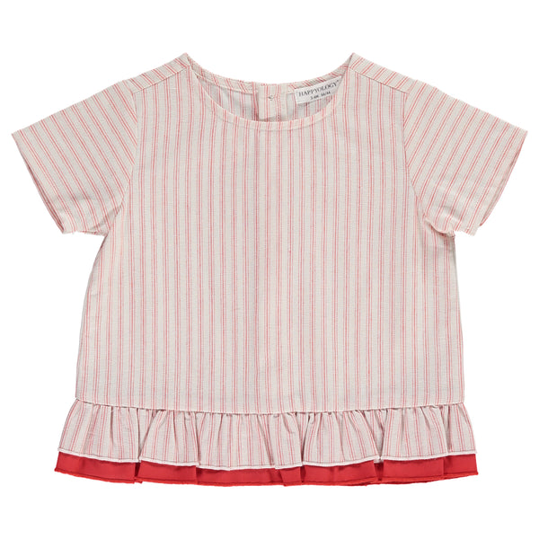 Aubrieta Top, Red Stripe