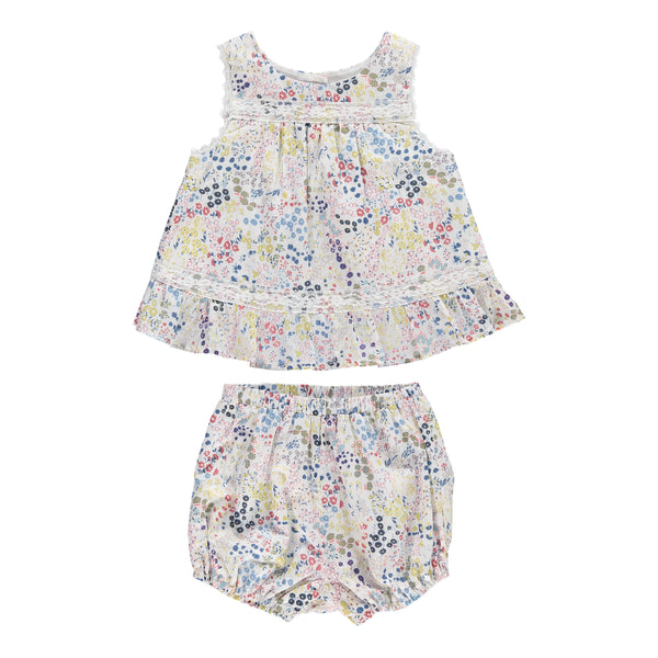 Fleur Dress & Bloomers Set, Spring Field