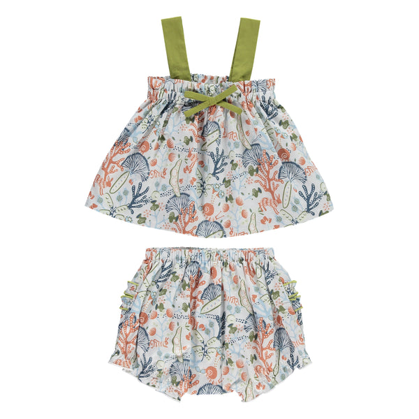 Terra Top & Bloomers Set, Veg Medley Print