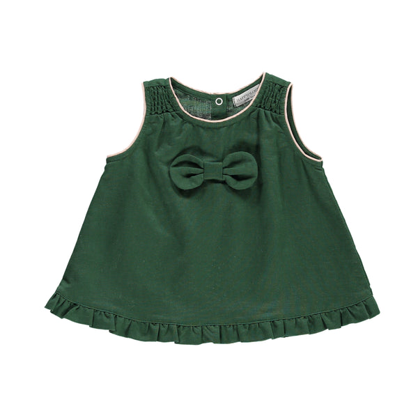 Wisteria Baby Top, Jasper Green