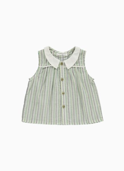 Hedera Baby Top Green Stripe