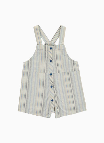 Inga Baby Dungaree Shorts, Blue Stella